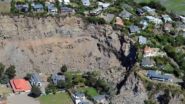 Chch quake landslide